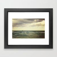 Barge Framed Art Print