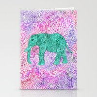 Elephant in Paisley Dream Stationery Cards