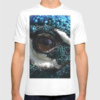 Peacock Eye Mens Fitted Tee White SMALL