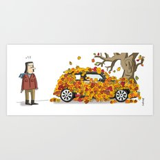 Autumn has landed. Art Print