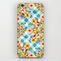Blue Gingham Pastel Mandala iPhone & iPod Skin