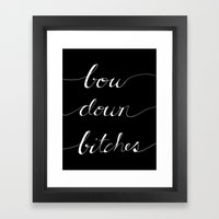 Bow Down Part Two Framed Art Print
