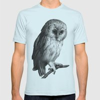 Wise Owl Mens Fitted Tee Light Blue SMALL