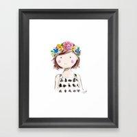 Flowers In Her Hair Framed Art Print