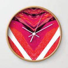 Pink Warp II Wall Clock