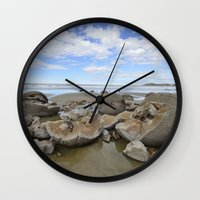 Broken Bolders Wall Clock