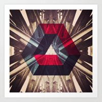 Isometric Symmetry Art Print