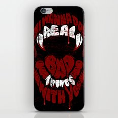Real Bad Things iPhone & iPod Skin