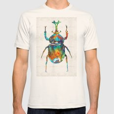 Colorful Beetle Art - Sc… Mens Fitted Tee Natural SMALL