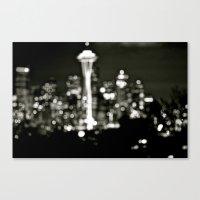 Seattle Bokeh Canvas Print