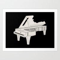 Music Is The Key. Art Print