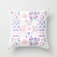 A Shabby Chic Patchwork Throw Pillow