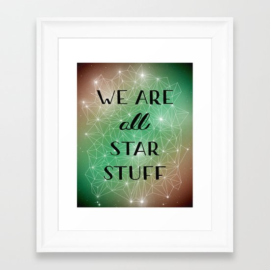 Star Stuff Framed Art Print