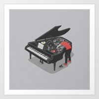 Pre-Concert Tune-Up Art Print