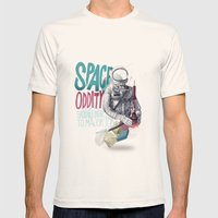 SPACE ODDITY Mens Fitted Tee Natural SMALL