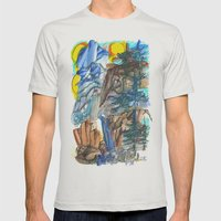 Yosemite Impressions Mens Fitted Tee Silver SMALL