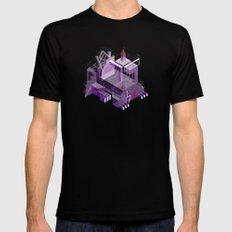 Den of the Headless Lion in Purple and Lavender Mens Fitted Tee Black SMALL