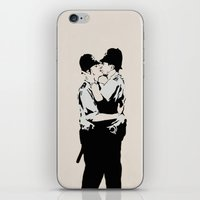 Kissing Coppers iPhone & iPod Skin