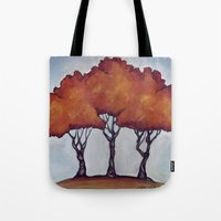 Fall Crepe Myrtles Tote Bag