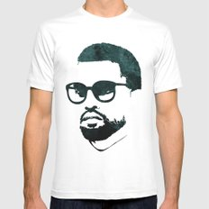 K' White SMALL Mens Fitted Tee