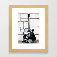Be Your Song and Rock On in White Framed Art Print
