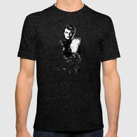 Glamor woman Mens Fitted Tee Tri-Black SMALL