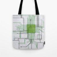 Circuit board green Tote Bag