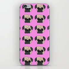 Pugs on Pink iPhone & iPod Skin