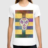 sugar skull T-shirts featuring Sugar Skull by Linda Tomei