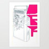 Def in Pink. Art Print