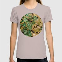 leaves evolved 3 Womens Fitted Tee Cinder SMALL