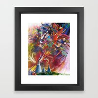 Plague of Locusts Framed Art Print