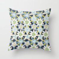 Passionflower Throw Pillow