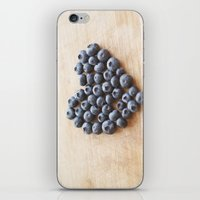 Blueberry Heart iPhone & iPod Skin