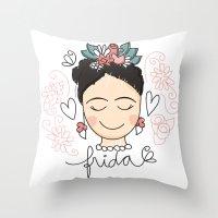 Frida Carinhas Throw Pillow