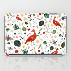 red bird pattern iPad Case