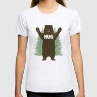 Bear Hug? Womens Fitted Tee Ash Grey MEDIUM