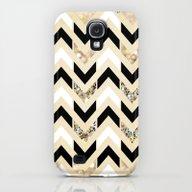 Black, White & Gold Glit… Galaxy S4 Slim Case