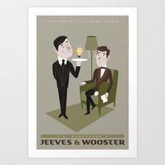 Jeeves & Wooster Art Print