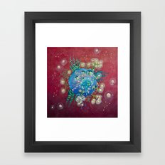 the planet of the lights Framed Art Print