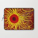 Psychedelic Susan 003, Sunflowers Laptop Sleeve