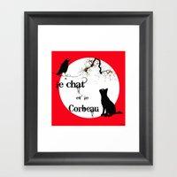 Le Chat Et Le Corbeau  Framed Art Print