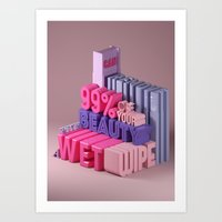 Typographic Insults #2 Art Print