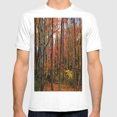 Sometimes the Trees Scream SMALL White Mens Fitted Tee