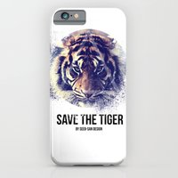 iPhone & iPod Case featuring Save the Tiger  by Seeb Bremer