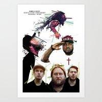 HUMBLE BEAST X JESUS X C… Art Print