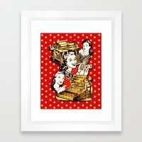Quirky Office Gals Framed Art Print