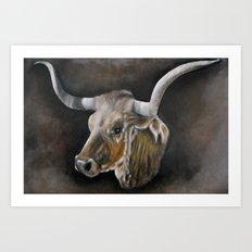 The Texas Longhorn Art Print