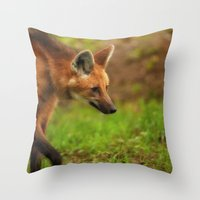 Wolf Strut Throw Pillow