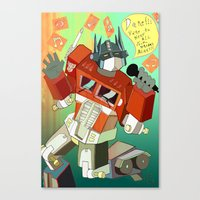 Optimus Prime DARE To Ke… Canvas Print